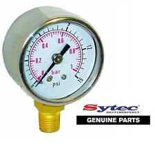 SYTEC FUEL PRESSURE GAUGE FOR MALPASSI / FILTER KING  REGULATORS  0 - 15 PSI