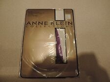 Anne Klein Collections Ultra Sheer Control Top Pantyhose Color Purple Tint Sz A