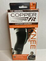 BRAND NEW! Copper Fit Freedom Compression Knee Sleeve L / LARGE / UNISEX /