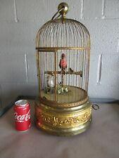 """New listing Antique Music Box French Bird Cage Automation Brass Huge 20"""" *Circa 1890-1910*"""