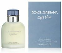 DOLCE & GABBANA LIGHT BLUE POUR HOMME EDT Spray 4.2 Oz / 125 ml New In Open Box