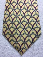 BERNY'S  MENS TIE YELLOW WITH RED BLUE GRAY 3.75 X 58 NWT
