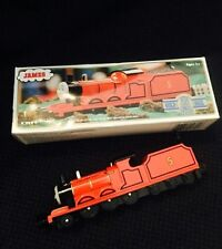 ERTL Thomas & Friends JAMES Red Engine Diecast Shining Time Station GOLD RAIL