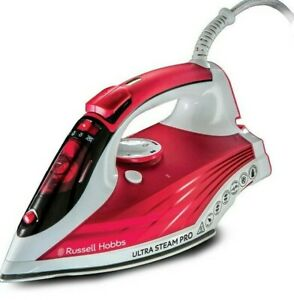 Russell Hobbs 23990 Ultra Steam Pro Iron 2600 W Ceramic Red