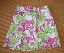 Lilly Pulitzer girls size 10 skirt, pleated, white. pink & green