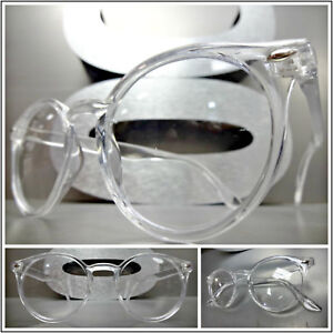 Mens or Women VINTAGE RETRO Style Clear Lens EYE GLASSES Round Transparent Frame