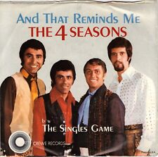 4 (FOUR) SEASONS, THE  (And That Reminds Me)  Crewe 333 + Picture Sleeve