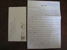 1976 Burton Mustin Signed Handwritten Letter + Cover w stamp US