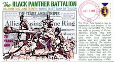 """COVERSCAPE computer designed """"Juneteenth"""" WWII Black Panther Battalion cover"""