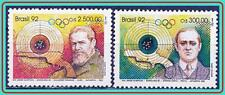 BRAZIL 1992 BARCELONA OLYMPIC GAMES / SHOOTING SC#2349-50 MNH CV$10.50 SPORTS