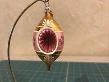 Christopher Radko Teardrop Reflector Christmas Ornament 4�