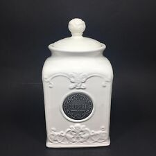 THL Shabby Chic Coffee Canister with Rose Lid