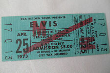 ELVIS Original__1973__UNUSED CONCERT TICKET - Fresno, CA