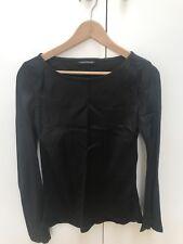 Scanlan Theodore Long Sleeve Black Blouse Size 8