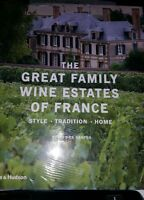 THE GREAT FAMILY WINE ESTATES OF FRANCE HARDCOVER BOOK, NEW!