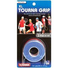 3 TOURNA Over Grip XL Tennis Squash Badminton Racquet Overgrip Light Blue Color