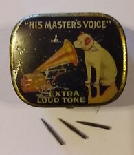 Vintage Gramophone/ Record Player steel needles, (HMV), price each not box,