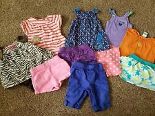 12 month girl clothes lot,  baby/toddler girl outfit  shorts tops