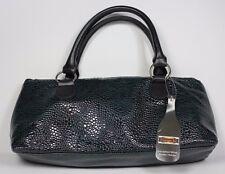 New Wine Clutch Lunch Bag Insulated Dark Green Croc Bag Tote Purse w/ Corkscrew