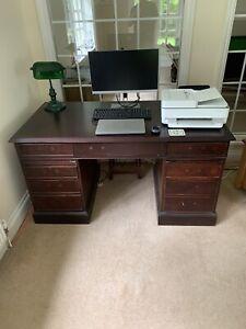 Dark wood office desk