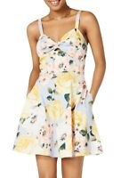 Speechless Yellow Size 5 Junior Sweetheart Tie Front A-Line Dress $59 #406