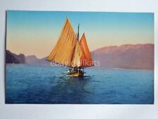 LAGO DI GARDA barca vela sailing boat vecchia cartolina 2909