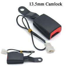 13.5mm Camlock Car Front Seat Belt Buckle Socket Plug Connector w/ Warning Cable