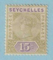 SEYCHELLES 10  MINT HINGED  OG *  NO FAULTS VERY FINE!