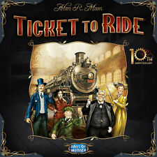 Ticket to Ride: 10th Anniversary [Board Game, Train & Travel, 2-5 Players] NEW