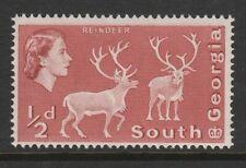 South Georgia 1963 ½d Brown-red Perf 14 x 15 SG 1a Mnh.