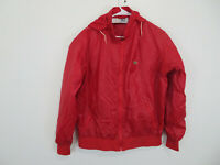 Lacoste Izod Jacket Vintage Red Lightweight Nylon Windbreaker Mens Size Large