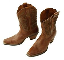 Womens Ariat 10004745 Brown Leather  Pointed Toe Cowboy Boots Western 7.5