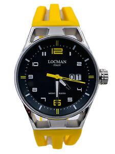 Orologio Locman Montecristo BigDate 41mm 546KY/498 gomma Scontatissimo Nuovo