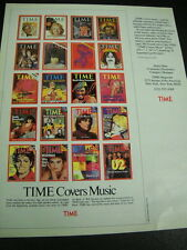 TIME 1989 Promo Ad JAMES TAYLOR David Bowie MADONNA Michael Jackson U2 The Who