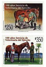 Chile 1997 #1896-1897 100 años Servicio de Veterianaria del Ejercito MNH