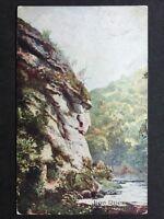 Vintage Postcard Derbyshire #15 - RP Lion Rock Dovedale - Bernard Hall & Co 1906