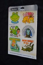 Vtg 70's DENNISON Stickers Seals FUNNY QUOTES DRACULA HUG YOUR CHILD TODAY NIP