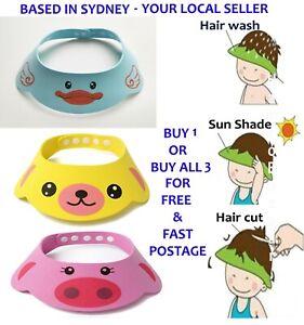 Adjustable Baby Shower Hat Kids Toddler Child Bath Shampoo Visor Cap Hair Wash