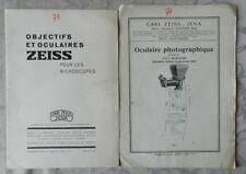 **** 2 CATALOGUES ZEISS - OBJECTIFS ET OCULAIRES - 1924 & 1928 - MIKRO 367 & 373