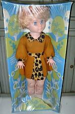 VINTAGE~DAN DEE~SALLY SO BIG~2' TALL~MIB~ANIMAL PRINT DRESS~FLINTSTONES~PEBBLES
