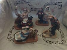 Emmett Kelly Circus Collection Lot of 4 Porcelain Figurined 1986 Limited Edition