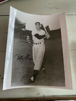 Vintage BOBBY THOMSON Autographed 8x10 Photo NY Giants MLB RARE NrMt/Mt DECEASED