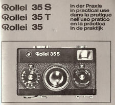 ROLLEI 35S-35T-35 VIEWFINDER 35mm CAMERA OWNERS INSTRUCTION MANUAL -ROLLEI