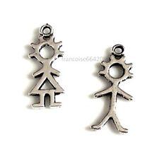 4 Breloques Filles Garçons 23/24mm Perles charms création bijoux bracelet _ B602
