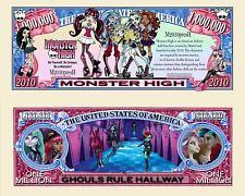 Monster High TV Show Million Dollar Novelty Money