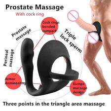 Men Climax Fantasy Silicone Prostate Massager Anal_Vibrator_Butt_Plug_for Men