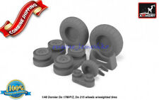 Armory 48205 Dornier Do 17M/P/Z, Do 215 wheels w/weighted tires, universal 1/48