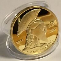 Gold Plated Titan Commemorative Coin BTC Bitcoin Collectible Collection Physical