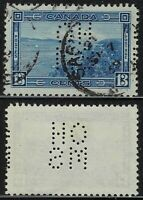 Scott OA242-A: 13c Halifax Harbour 5-Hole OHMS Perfin, Saskatoon CDS, VF
