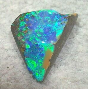 GEM-Class Boulderopal Grün-Blau -Top Farbe - 24,90ct. - Top Brillanz !!